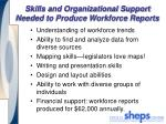 skills and organizational support needed to produce workforce reports