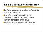 the ns 2 network simulator