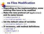 ns files modification