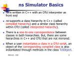 ns simulator basics