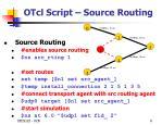 otcl script source routing