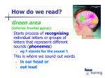 how do we read1