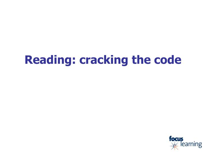 reading cracking the code n.