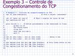exemplo 3 controle de congestionamento do tcp