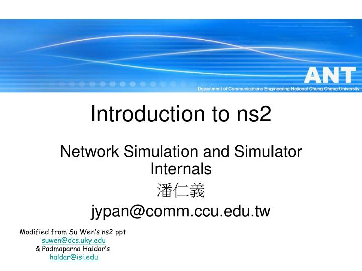 introduction to ns2 n.