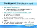 the network simulator ns 2