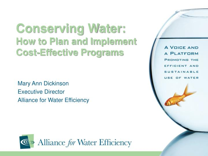 conserving water how to plan and implement cost effective programs n.