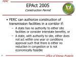 epact 2005 construction permit