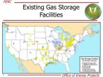 existing gas storage facilities