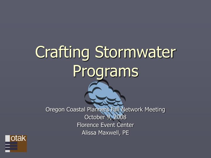 crafting stormwater programs n.