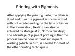 printing with pigments