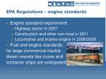 epa regulations engine standards
