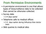 from permissive environments