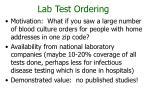 lab test ordering