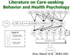 literature on care seeking behavior and health psychology
