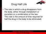 drug half life
