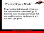 pharmacology in sports