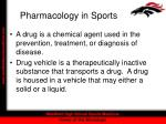 pharmacology in sports1