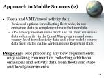 approach to mobile sources 2