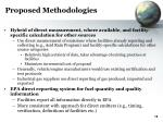 proposed methodologies