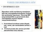 fungsi sim berbasis e gov