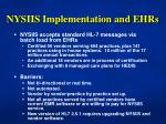 nysiis implementation and ehrs