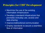 principles for chi 2 development
