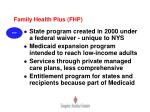 family health plus fhp