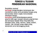 fungsi tujuan pendidikan nasional