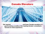 canada elevators