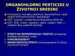 organohlorni pesticidi u ivotnoj sredini