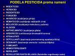 podela pesticida prema nameni