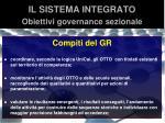 il sistema integrato obiettivi governance sezionale3