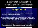 il sistema integrato obiettivi governance sezionale5