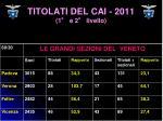 titolati del cai 2011 1 e 2 livello4