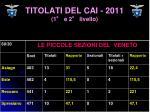 titolati del cai 2011 1 e 2 livello7