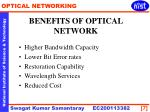benefits of optical network