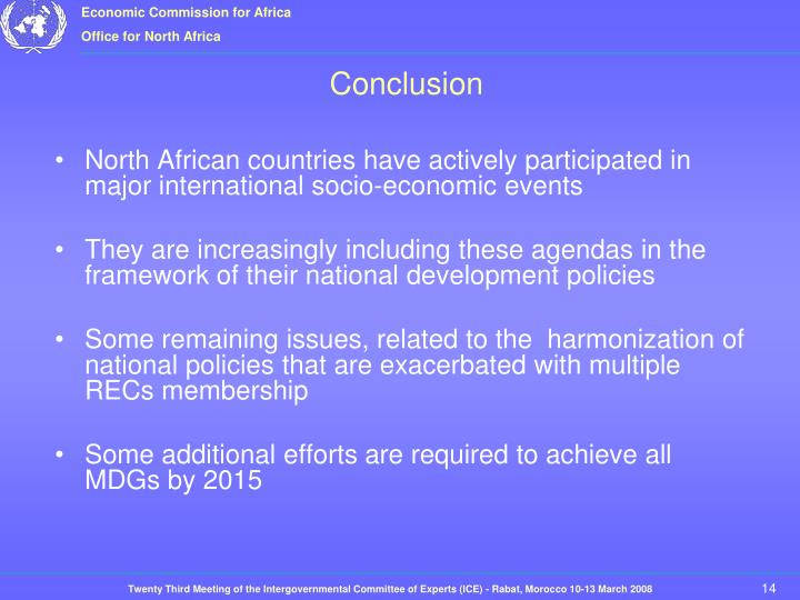 North African countries have actively participated in major international socio-economic events