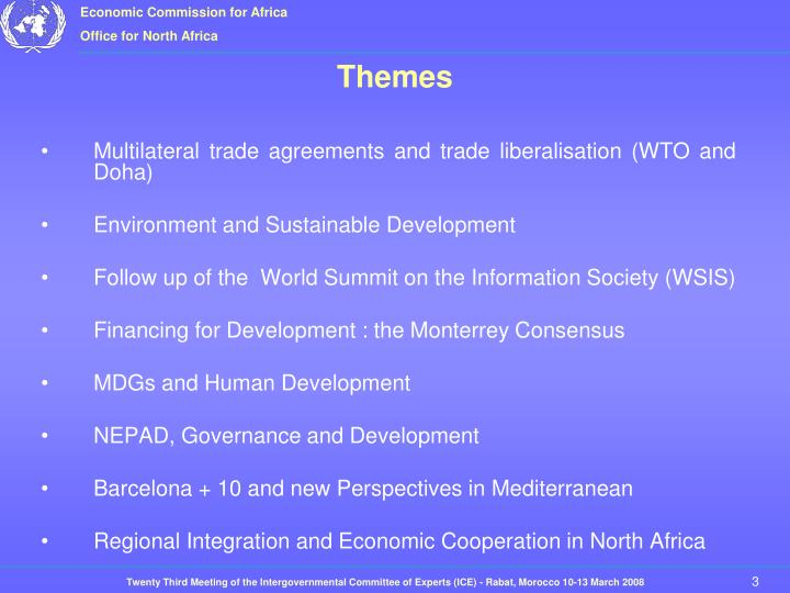 Multilateral trade agreements and trade liberalisation (WTO and Doha)