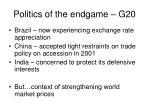 politics of the endgame g20
