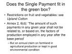 does the single payment fit in the green box