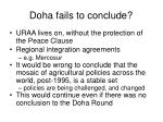 doha fails to conclude