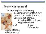 neuro assessment23