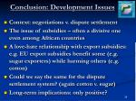 conclusion development issues