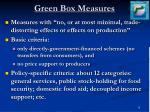 green box measures
