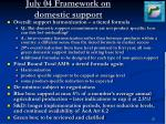 july 04 framework on domestic support