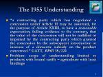 the 1955 understanding