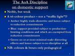 the aoa discipline on domestic support