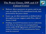 the peace clause dsp and us upland cotton