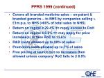 pprs 1999 continued
